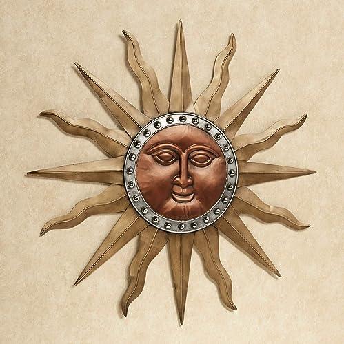 Touch of Class Radiant Shine Sun Wall Art Multi Metallic