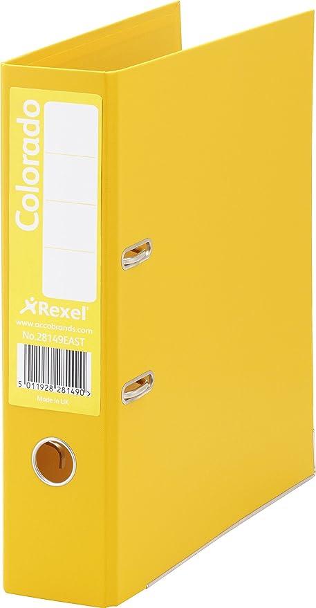 Rexel Colorado - Archivadores, color amarillo, 80 mm, 1 unidad ...