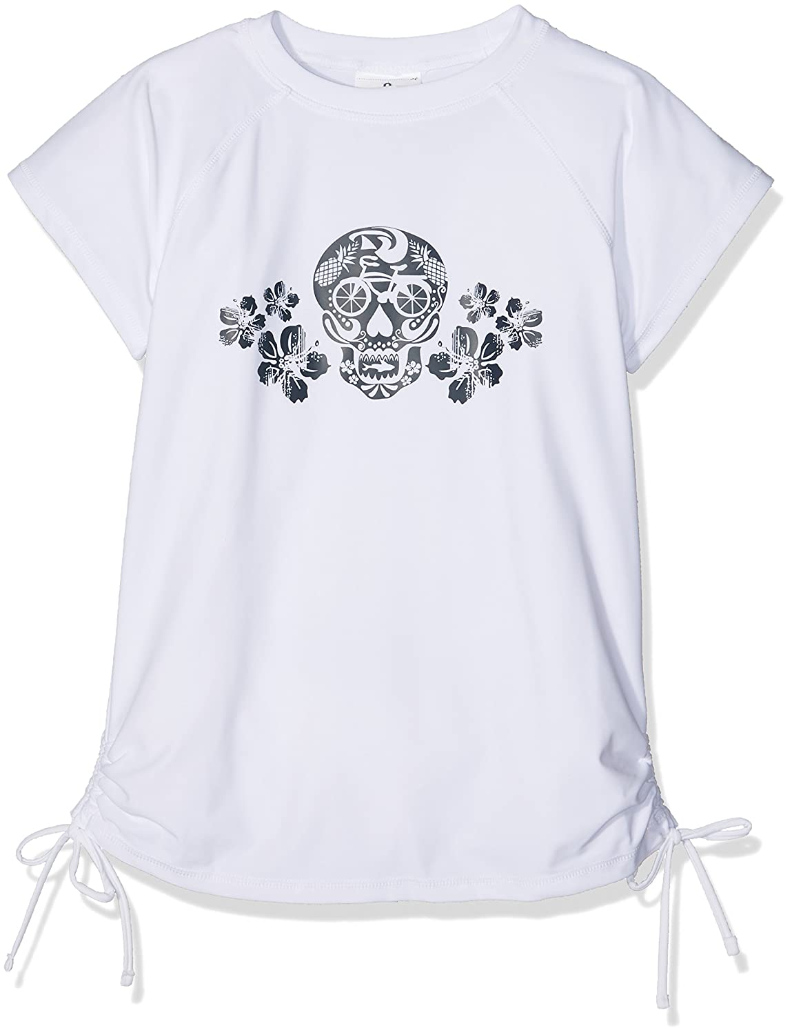 Girls Snapper Rock Sugar Skull SS Rash Top UPF50+