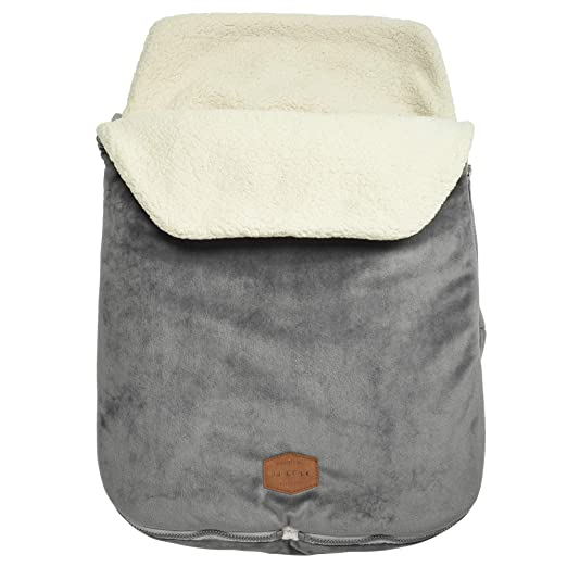 JJ Cole - Original Bundleme, Canopy Style Bunting Bag to Protect Baby from Cold and Winter Weather in Car Seats and Strollers, Graphite, Infant