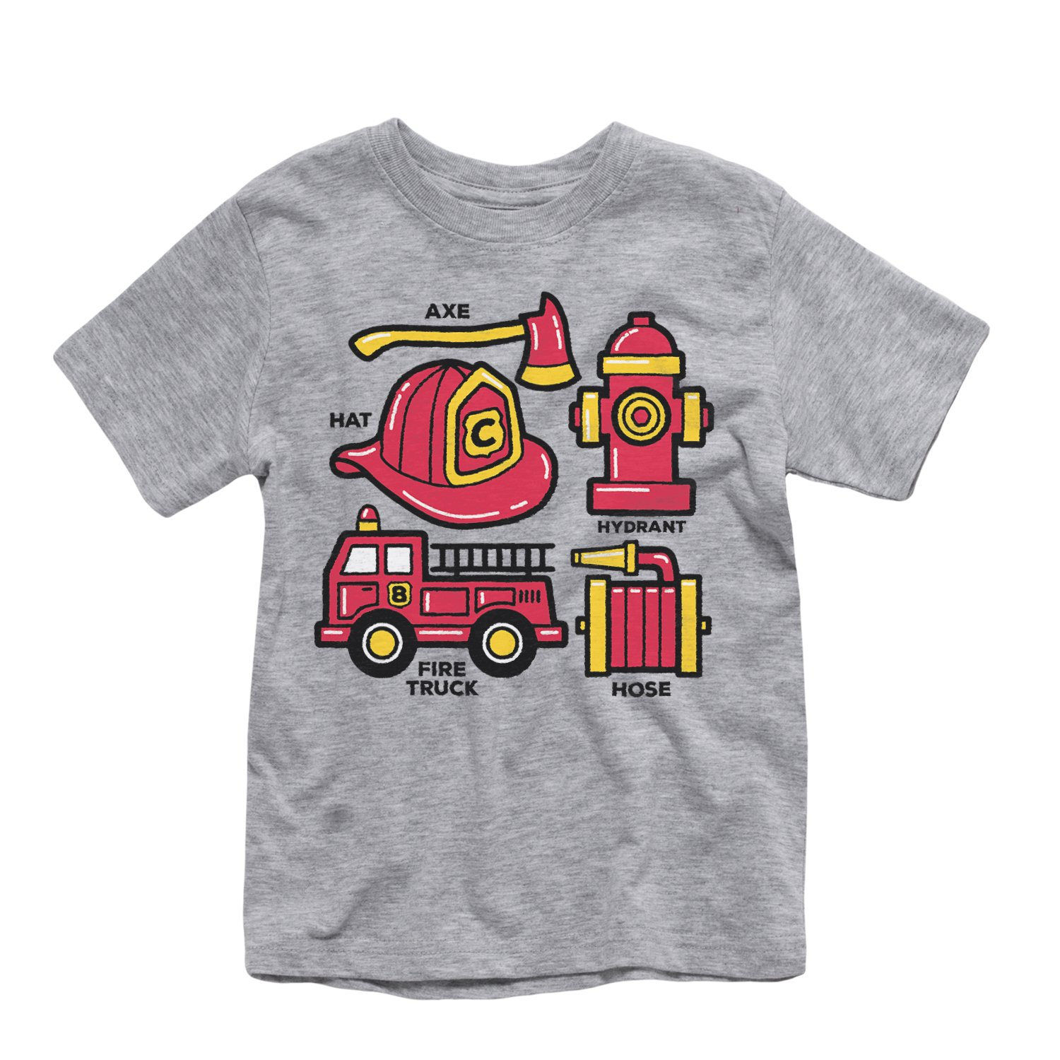 Instant Message Firemens Tools-Toddler Short Sleeve TEE