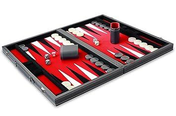 Philos Backgammon Kunstleder 47 x 29 cm Spiele