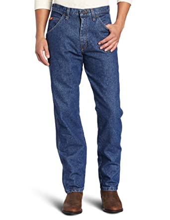 77def580 Amazon.com: Wrangler RIGGS WORKWEAR Men's Flame Resistant Relaxed Fit Jean:  Clothing