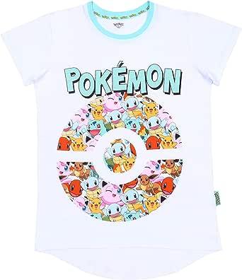 Camiseta de Color Blanco y Menta Pokemon: Amazon.es: Ropa y accesorios