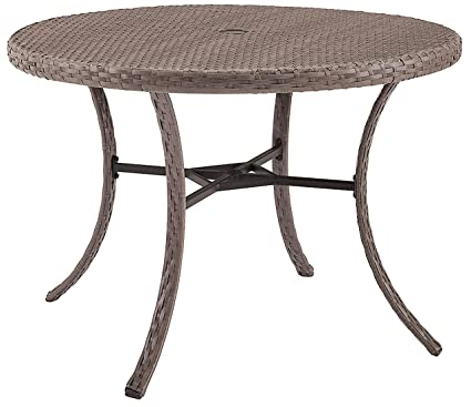 Amazon.com: Crosley muebles mesa redonda en madera de mimbre ...