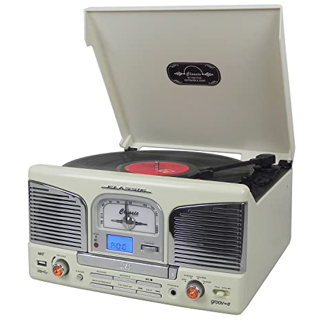 Groov-e Retro Series - Reproductor de Discos de Vinilo con ...