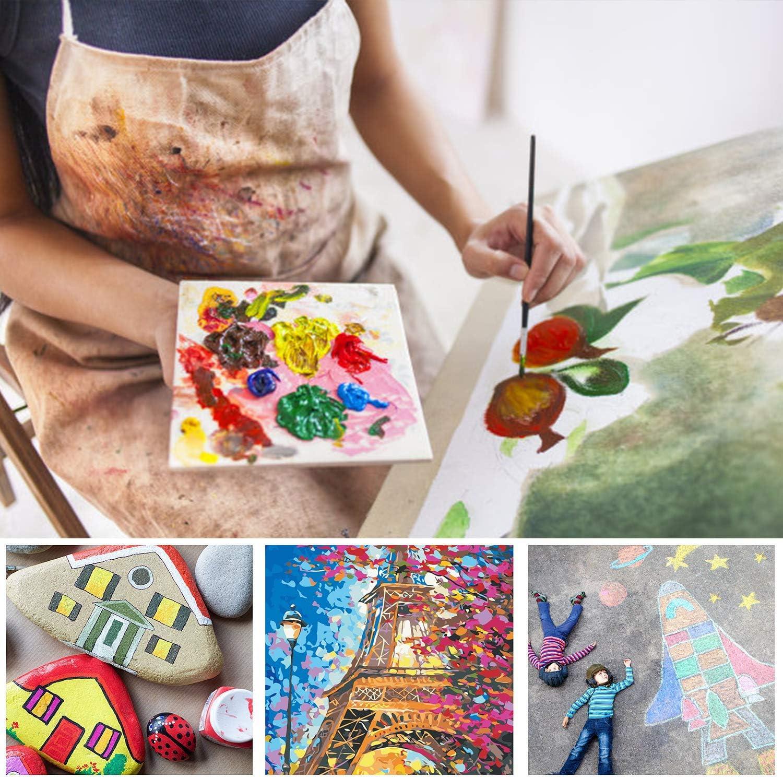 Boogier ni/ños y Amantes de la Pintura Acuarela Cuchillo para pal/és y esponjas para acr/ílico Pintura de Aceite para Principiantes Juego de 15 Pinceles para Artistas con Bolsa Pop-up