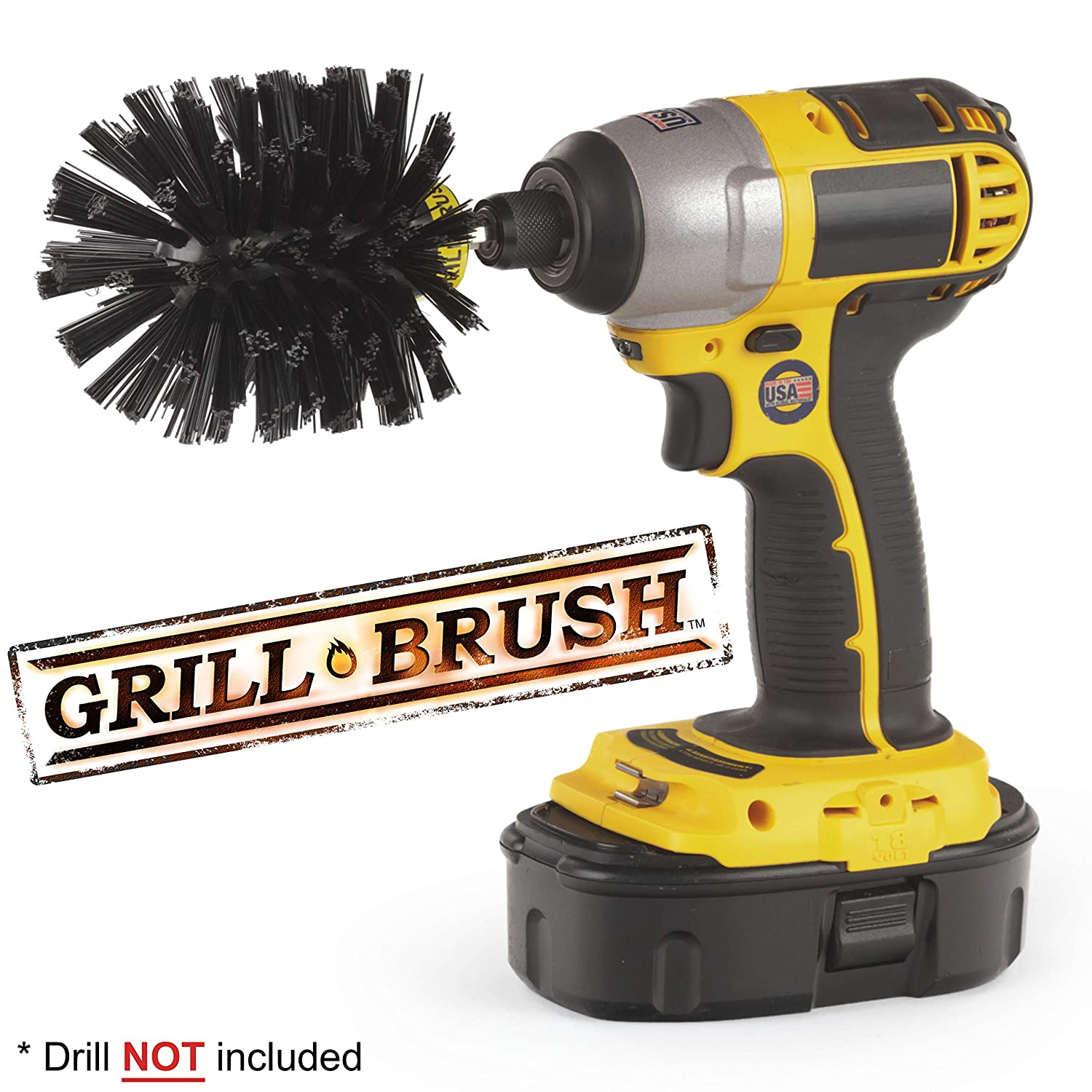 BBQ Grill Accessories - The Grill Brush - Grill Cleaner - Barbeque Grill - Charcoal Grill - Charbroil Grill - Electric Smoker - Smokers and Grills - Grill Scraper - Grill Cleaner - BBQ Tools Drillbrush