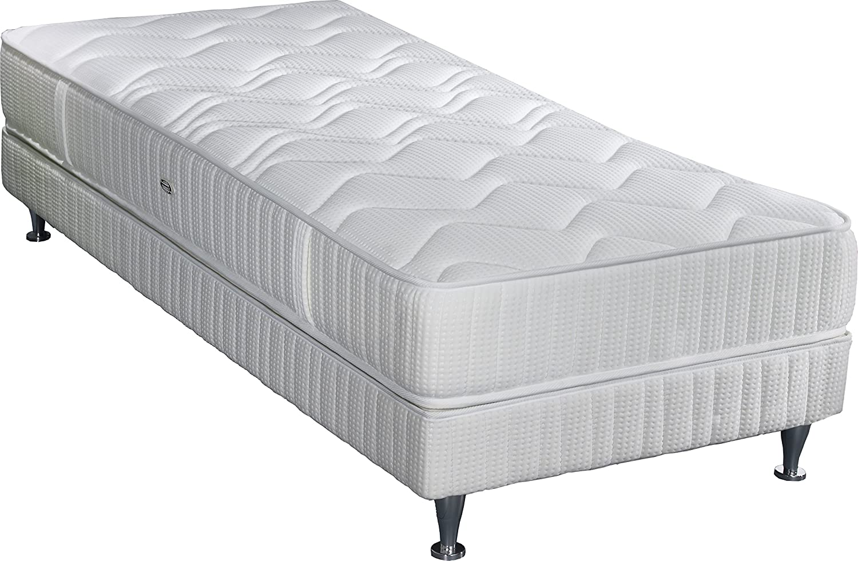 Simmons k22W90200Mailand Matratze + Lattenrost + Fuß weiß 200x 90x 38cm