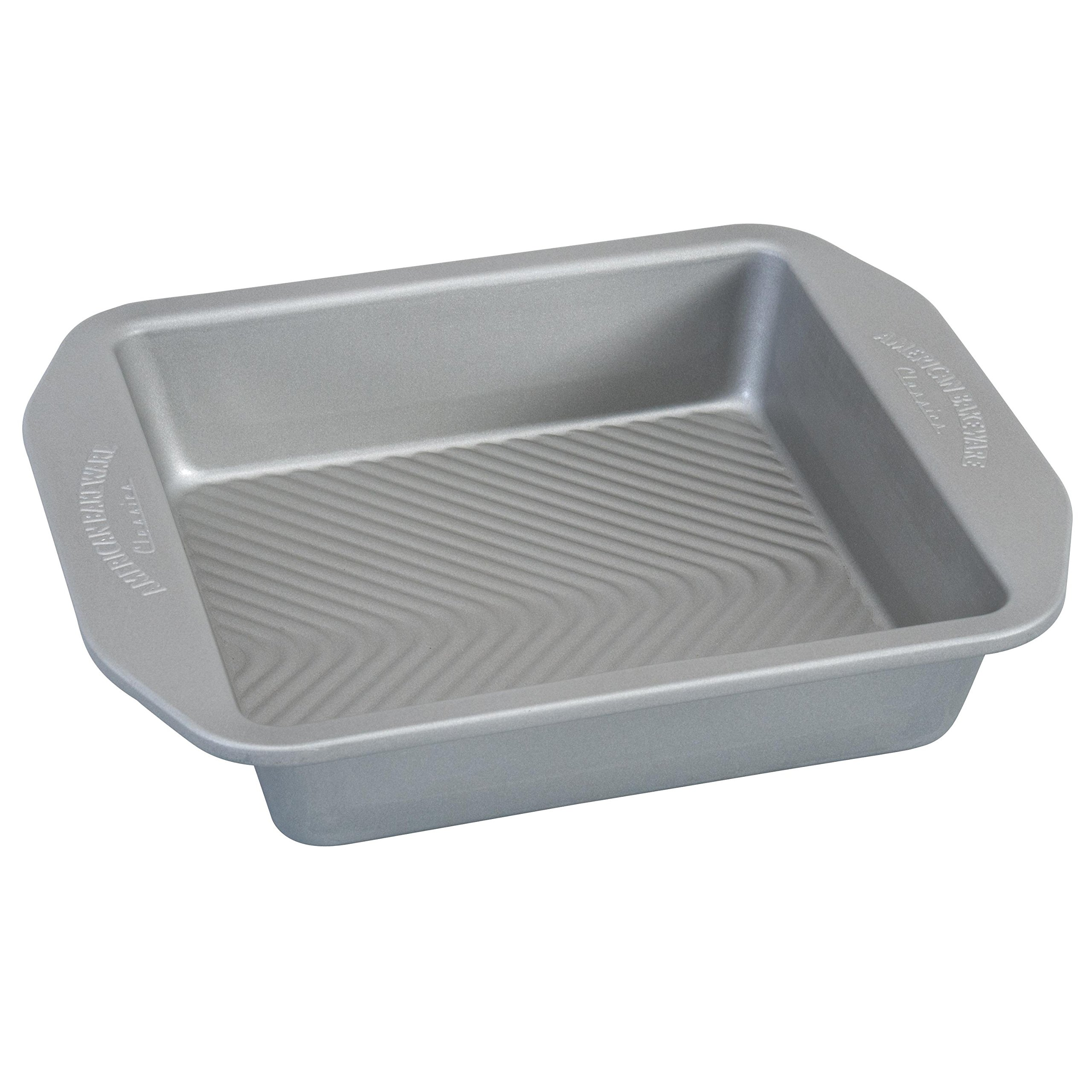 USA Pan 1120BW-2-ABC American Bakeware Classics 8 inch Square Baking Pan, Aluminized Steel