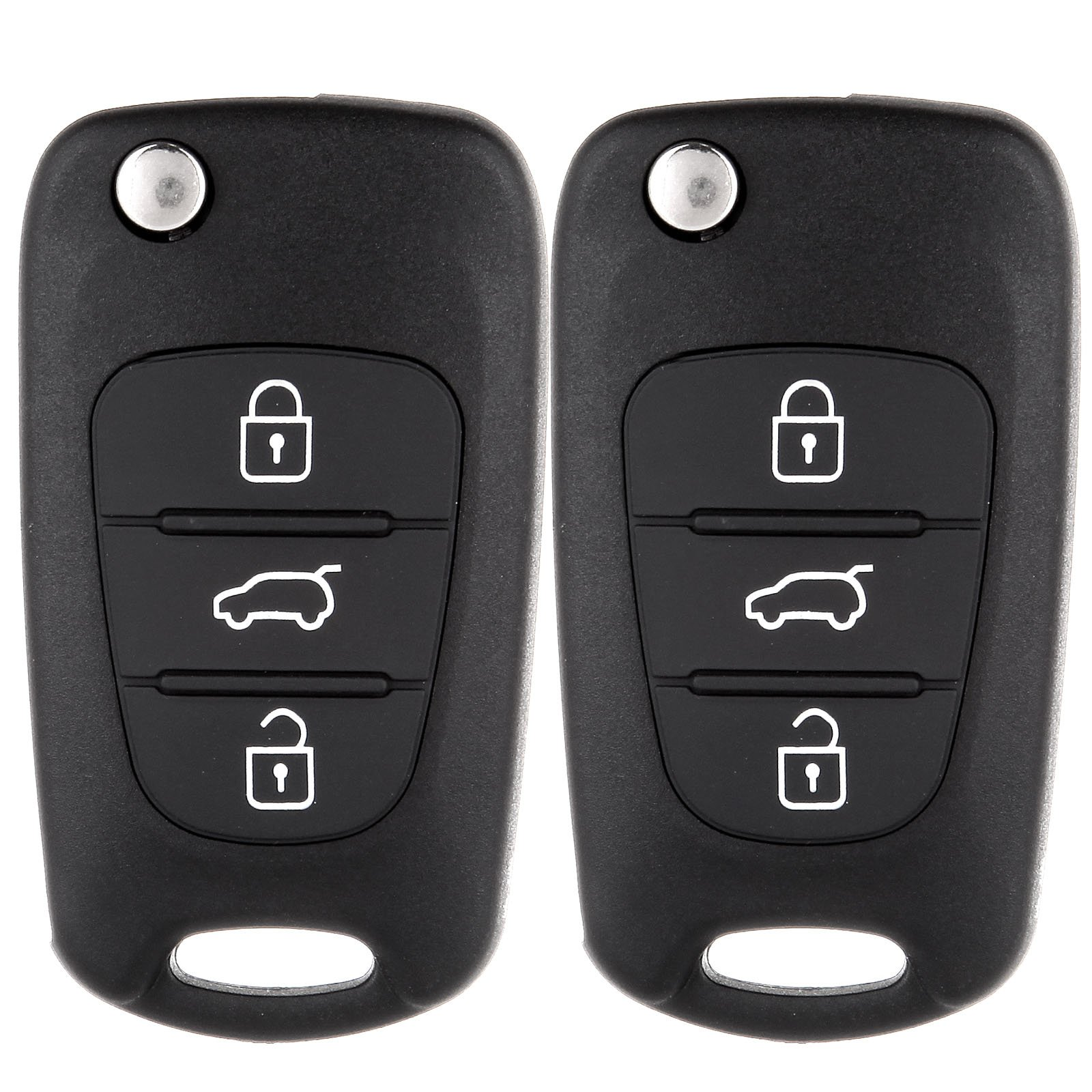 ECCPP 2X 3 Button Replacement Uncut Keyless Entry Remote Control Car Key Fob Shell Case for Kia Rio/Rondo/ Soul/Sportage