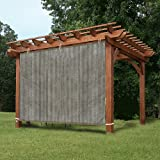 Easy2Hang EZ2hang Alternative Solution Roller Shade - Sun Shade Privacy Panel 3 Sides Ready-to-tie Ribbon, Side Shade Wall Pergola, Porch, Canopy Gazebo 6' x 6', Coffee