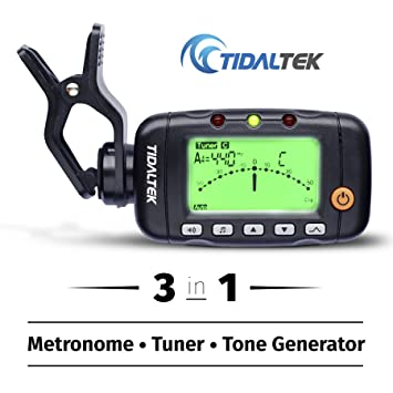 3-in-1 Digital Guitar Tuner - Professional Clip-On Tuner, Metronome