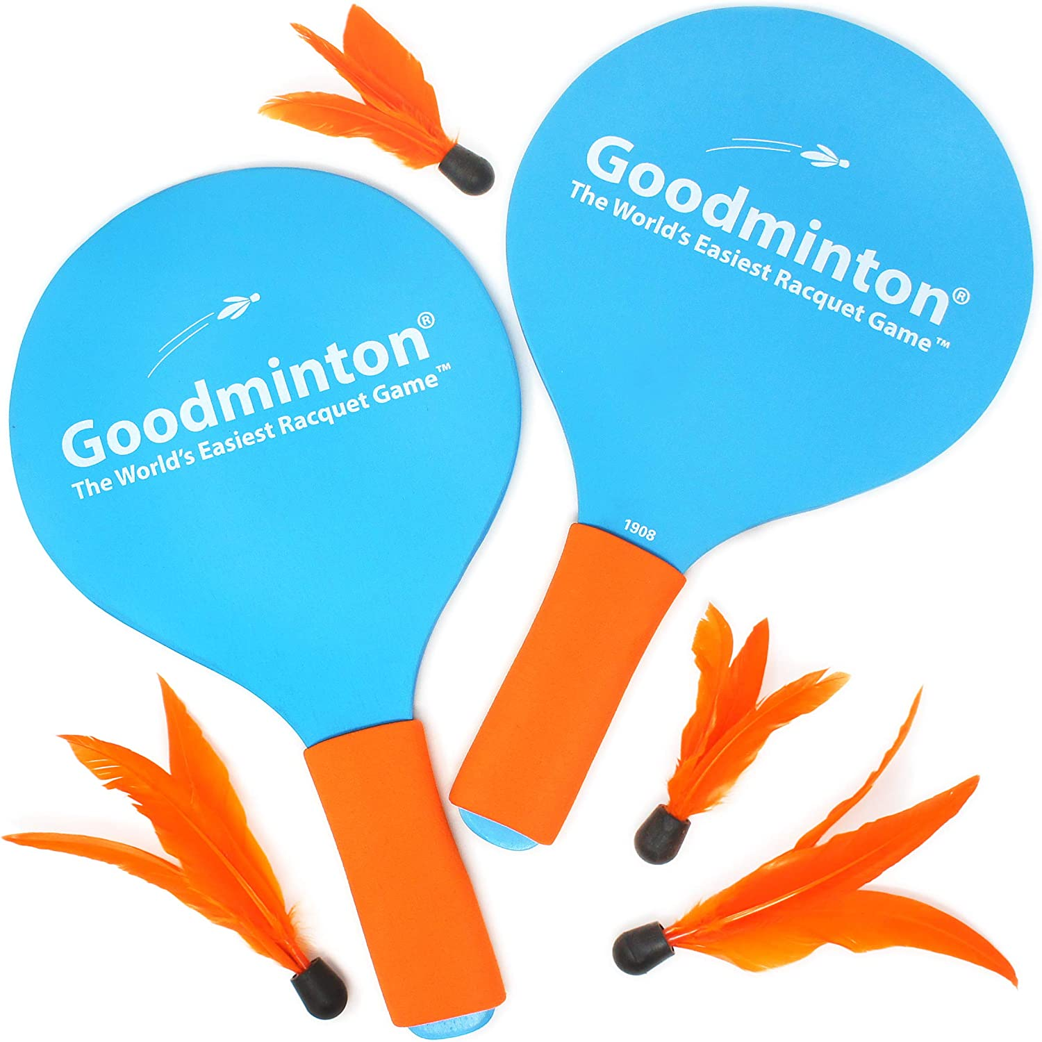 VIAHART Goodminton | The World's Easiest Racquet Game | an Indoor Outdoor Year-Round Fun Paddle Game Set for Boys, Girls, and People of All Ages : Sports & Outdoors