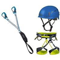 Camp Klettersteigset Vortex Rewind Pro + Gurt Energy Größe L + Helm Protector 2.0 Blue