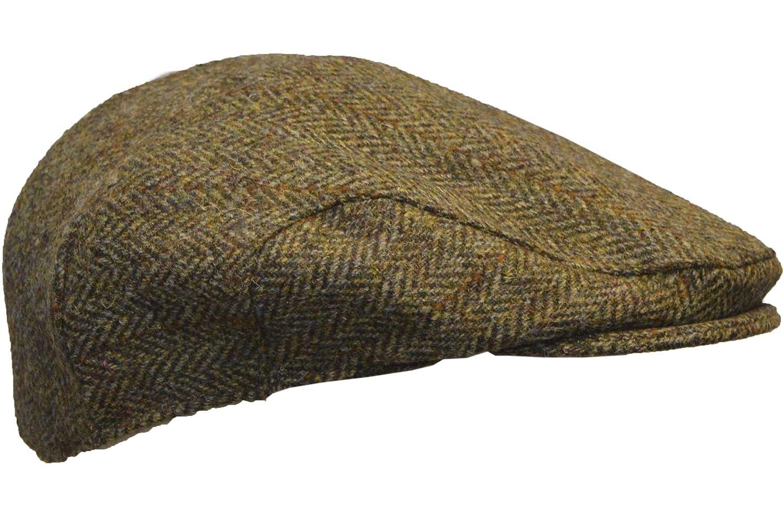 Walker /& Hawkes Unisex Schieberm/ütze aus Harris-Tweed Dunkelgrau Fischgr/ätmuster