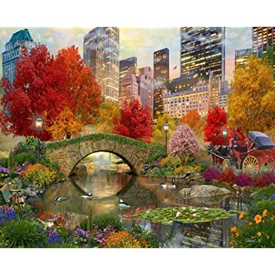 Springbok's 1000 Piece Jigsaw Puzzle Central Park Paradise: Toys & Games