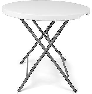 greemotion Table de jardin ronde Prag - Table ronde diamètre 80 cm ...