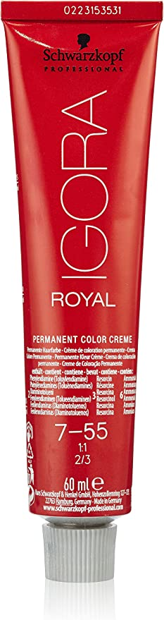 Schwarzkopf Professional Igora Royal 7-55 Permanent Color Cream Tinte - 60 ml
