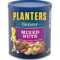 PLANTERS Deluxe Mixed Nuts with Hazelnuts, 15.25 Oz. Resealable Jar - Cashews, Almonds, Hazelnuts, Pistachios & Pecans…