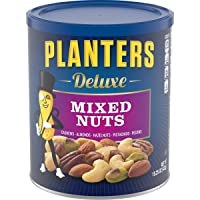 PLANTERS Deluxe Mixed Nuts with Hazelnuts, 15.25 oz. Resealable Jar - Cashews, Almonds...