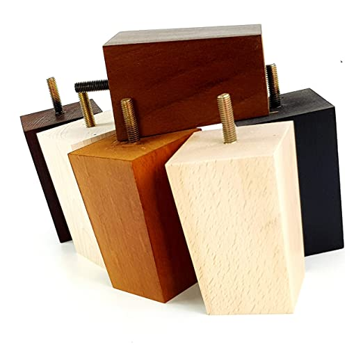 Patas de repuesto para muebles de madera, 100 mm, 4 unidades ...