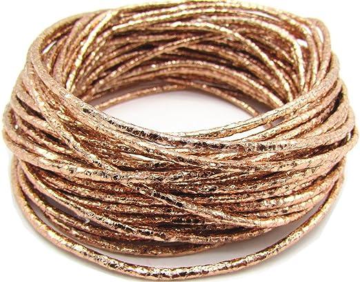 2 metros Cordón de Cuero Real 2mm Marrón Pulsera Collar joyería haciendo