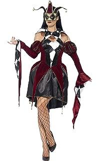 Gothic Venetian Harlequin Female Costume