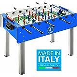 Calciobalilla FAS PRO ITALY BLU Aste Rientranti da Interno con Palline + SPRAY LUBRIFICANTE - ESCLUSIVA ITALIA - NOVITA'