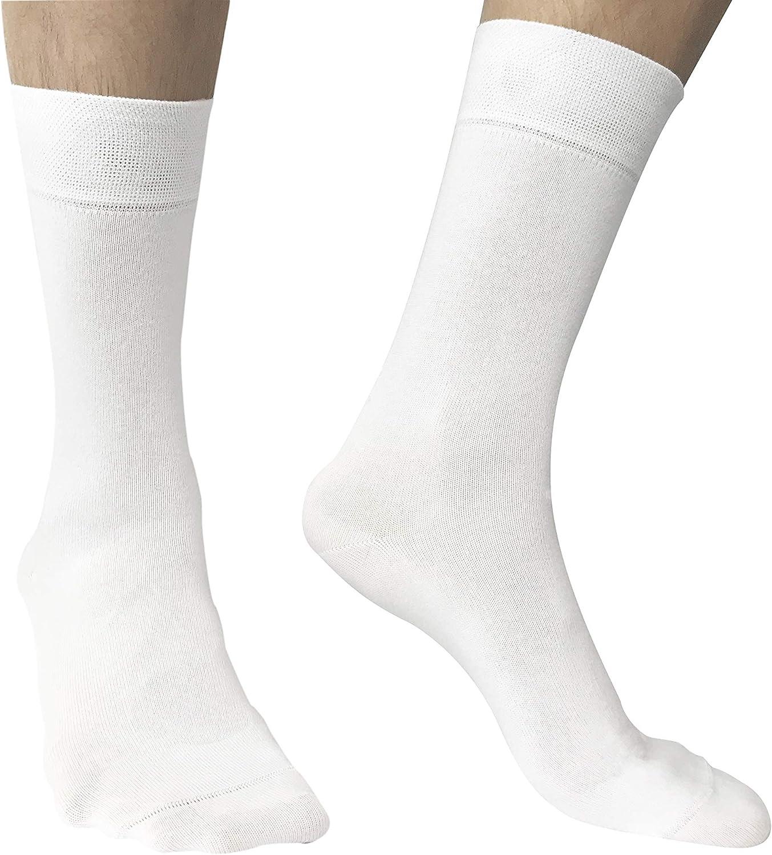 Calcetines hombres algodon peinado de alta calidad - Blanco - Pack 6 pares - Talla 36 40 : Amazon.es: Ropa y accesorios