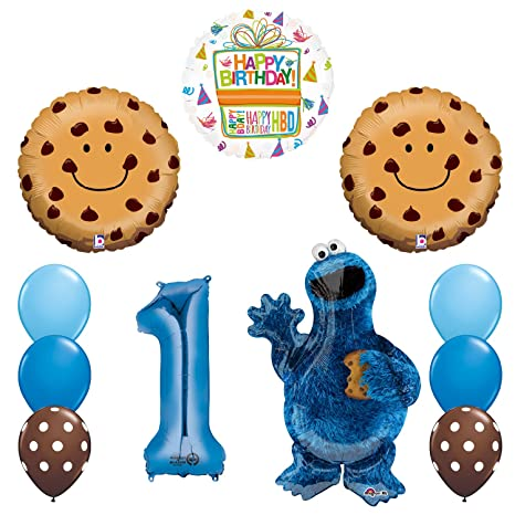 Amazon Mayflower Products NEW Sesame Street Cookie Monsters 1st Birthday Party Supplies Balloon Decorations Toys Games