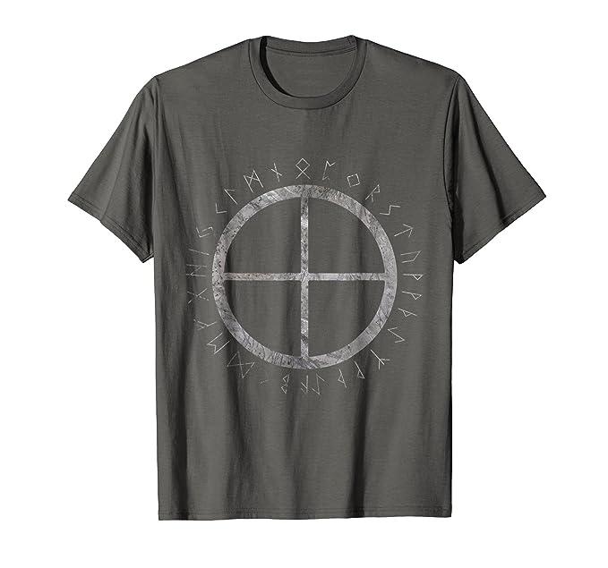 Amazon Solar Cross Viking Nordic Sign Rune Symbol Tee Clothing