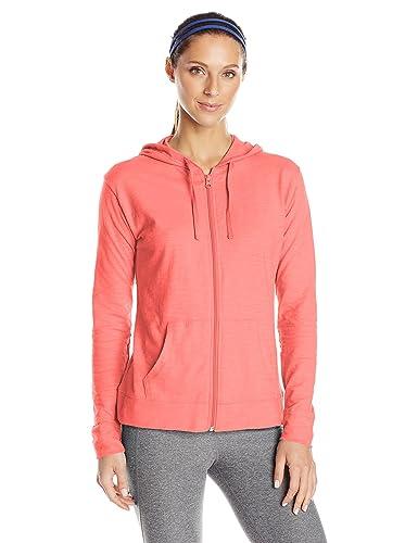 Hanes Women's Jersey Full Zip Hoodie, Briny Pink, X-Large