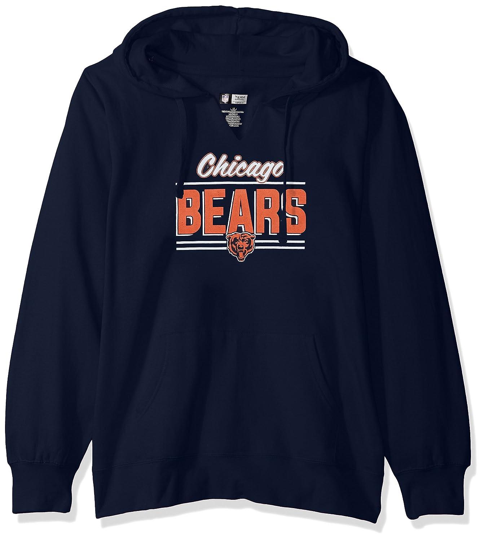 NFL Womens Bears Fleece Pull Over Notch Hood