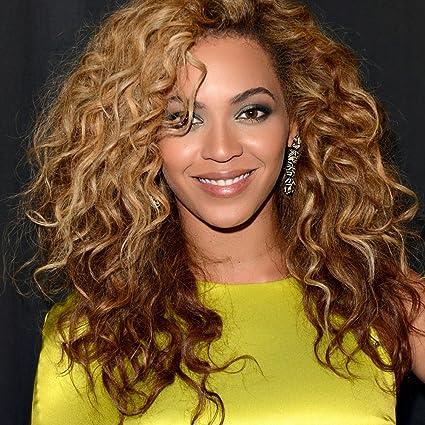 Wicostar JS Pelucas Peluca de pelo rizado completo encaje medias de Beyonce barato