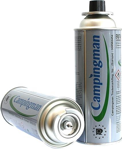 Campingman Cartuchos de gas butano 227 g MSF 1A para hornillo de gas de camping (12)