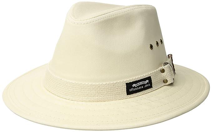 4e0ae48448b230 Panama Jack Men's Canvas Safari Sun Hat (Natural, X-Large): Amazon ...