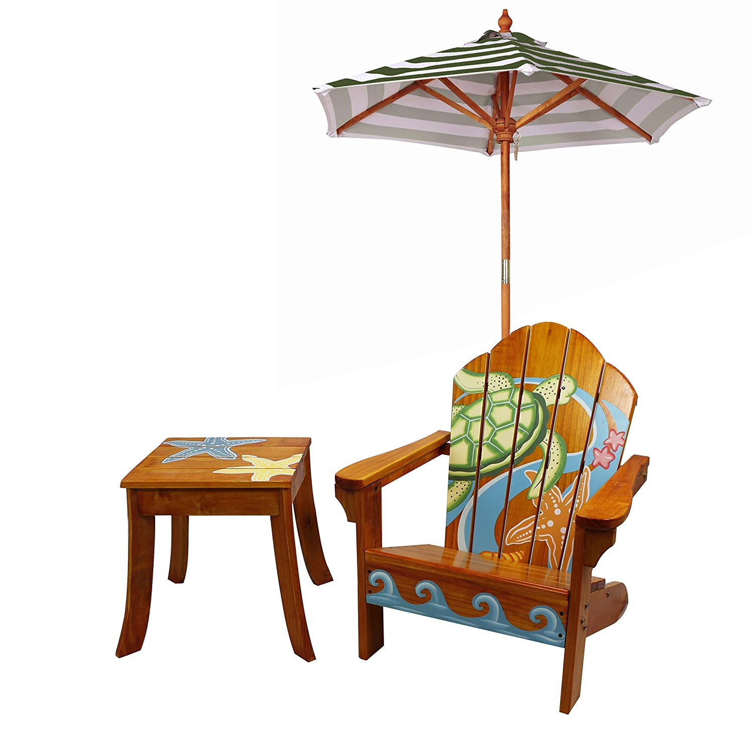 Amazon.com Winland - Outdoor Table and Adirondack Chair Set with Unbrella - Beach Summer Toys \u0026 Games  sc 1 st  Amazon.com & Amazon.com: Winland - Outdoor Table and Adirondack Chair Set with ...
