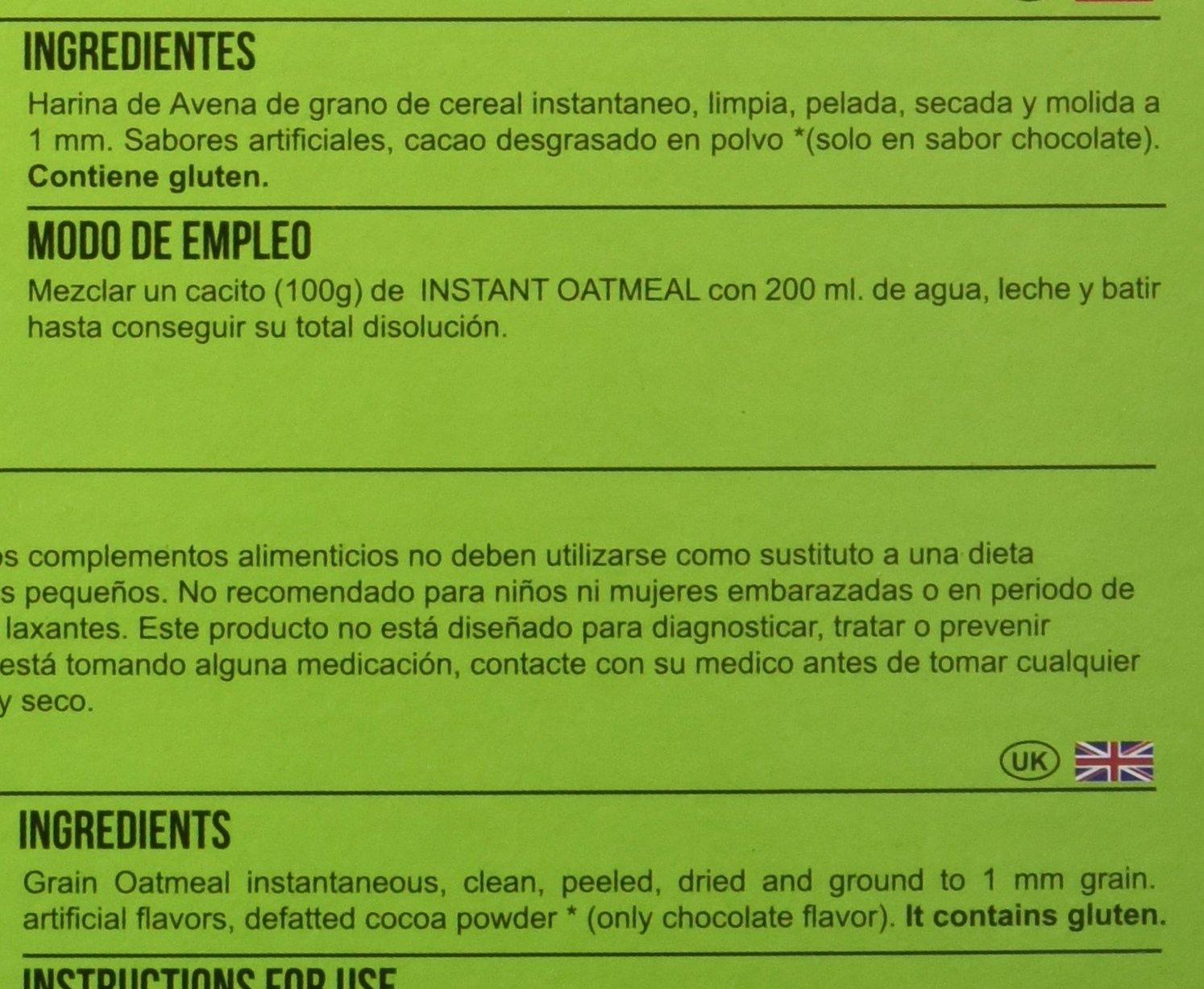 Big Man Nutrition Instant Oatmeal Suplemento de Carbohidratos Arroz con Leche - 3000 gr: Amazon.es: Salud y cuidado personal