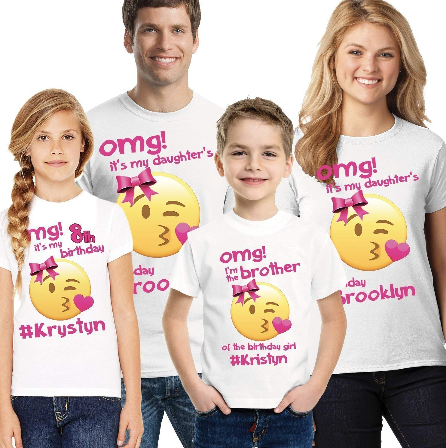girls emoji birthday shirts