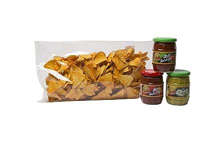 aperisnack® – snack2101-bs – Nachos Gusto Barbeque, + 3 salsas Sabores Surtidos