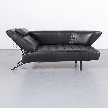 Amazon Com De Sede Ds 144 Leather Sofa Black Two Seater Lounger