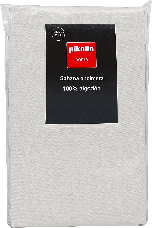 Pikolin Home - Sábana encimera, 100% algodón, 220x270cm, cama 135/140, color marrón claro (Todas las medidas): Amazon.es: Hogar