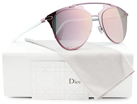 1fbe65ce5a Image Unavailable. Image not available for. Color  Christian Dior Reflected S  Sunglasses Pink White w Rose ...