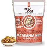 KetoDose Macadamia Nuts - Cheddar Flavored Roasted Macadamia Nuts - 1G Net Carb - Sugar-Free Keto Snacks