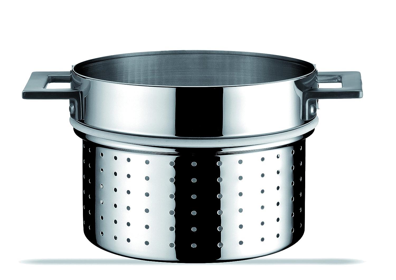 Mepra 24 cm Stainless Steel Attiva Pasta Pan Insert, Silver 30187224