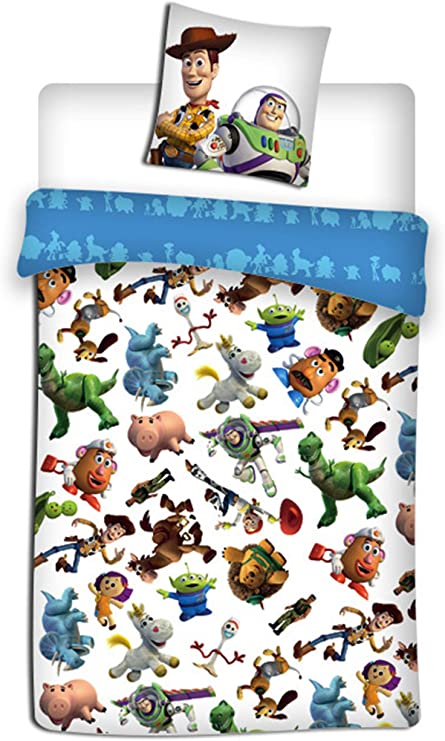 Copripiumino Toy Story.Toy Story Disney Parure Copripiumino Singolo 1 Piazza Amazon It