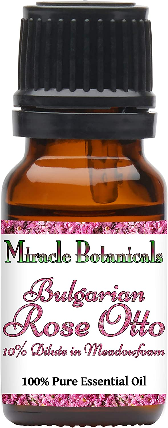 Miracle Botanicals Bulgarian Rose Otto 10% Dilute in Meadowfoam Oil - Therapeutic Grade - 10ml