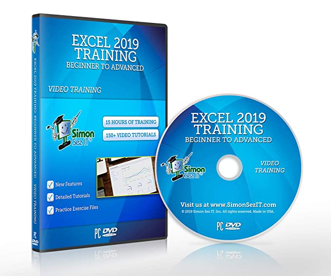 Amazon com: Excel 2019 Training DVD by Simon Sez IT: Excel