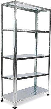 Tolsen PN18081610010174330 Estantería metálica galvanizada para almacenar, 86 x 30 x 167 cm